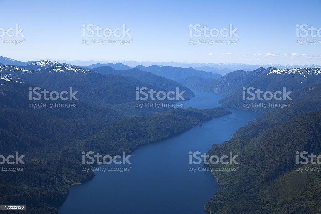Tranquil Mountain Lake stock photo