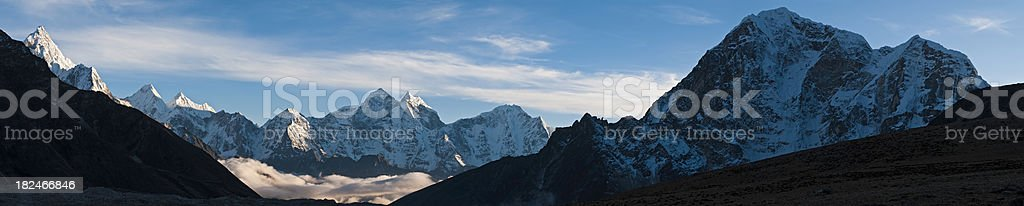 \'The delicate rocky spire and snow capped summit of Ama Dablam and...