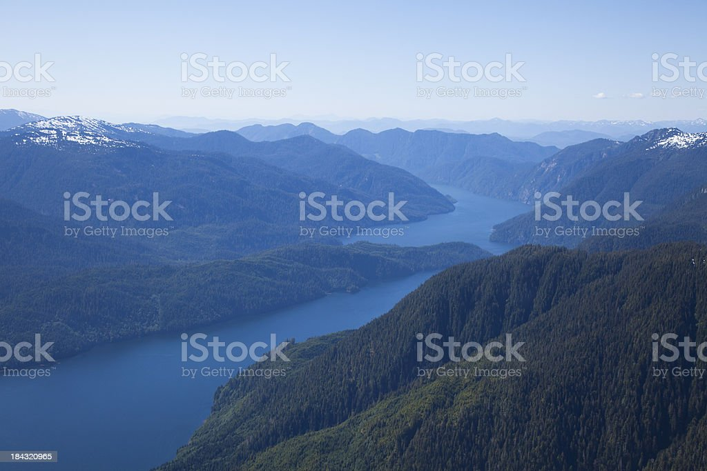Tranquil Mountains of Northern British Columbia stock photo