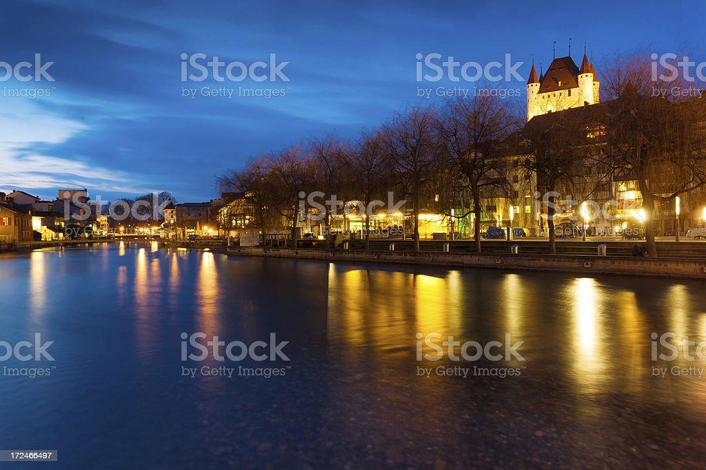 Tranquil Night in Switzerland royalty-free stock photo