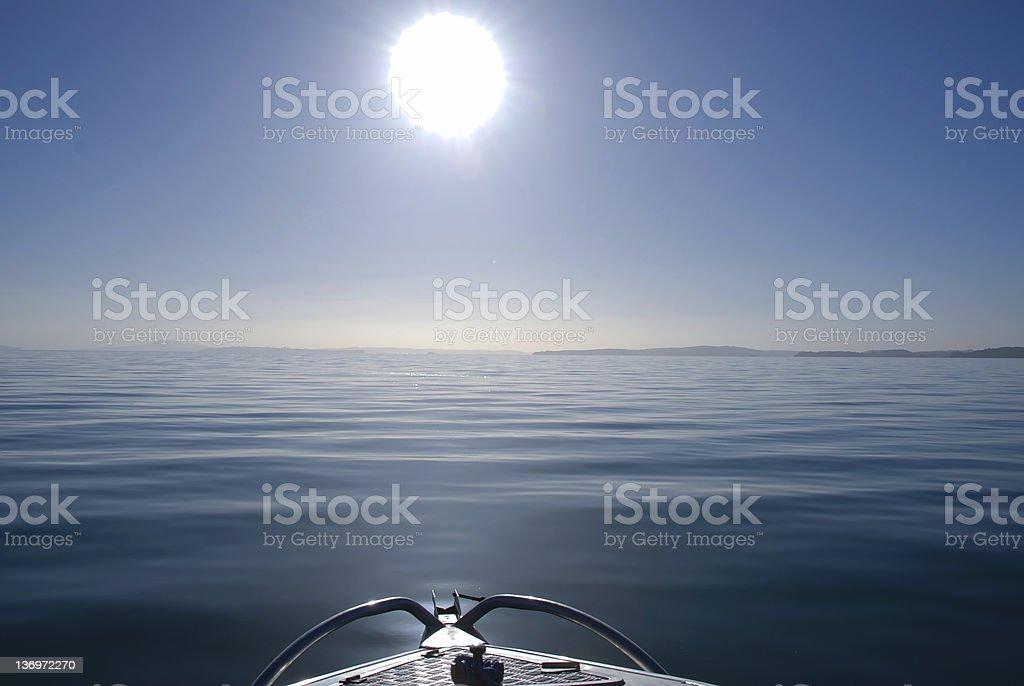 tranquil ocean stock photo