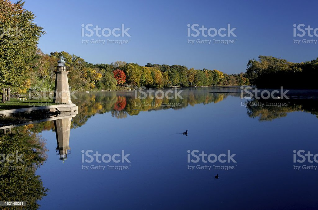 Tranquil River  Autumn Stock Photo