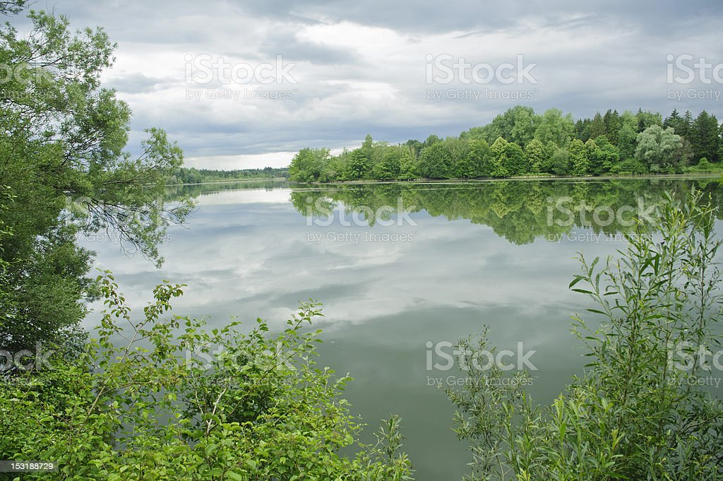 tranquil river scene in germany,europe. royalty-free stock photo