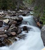 River with dark rocks