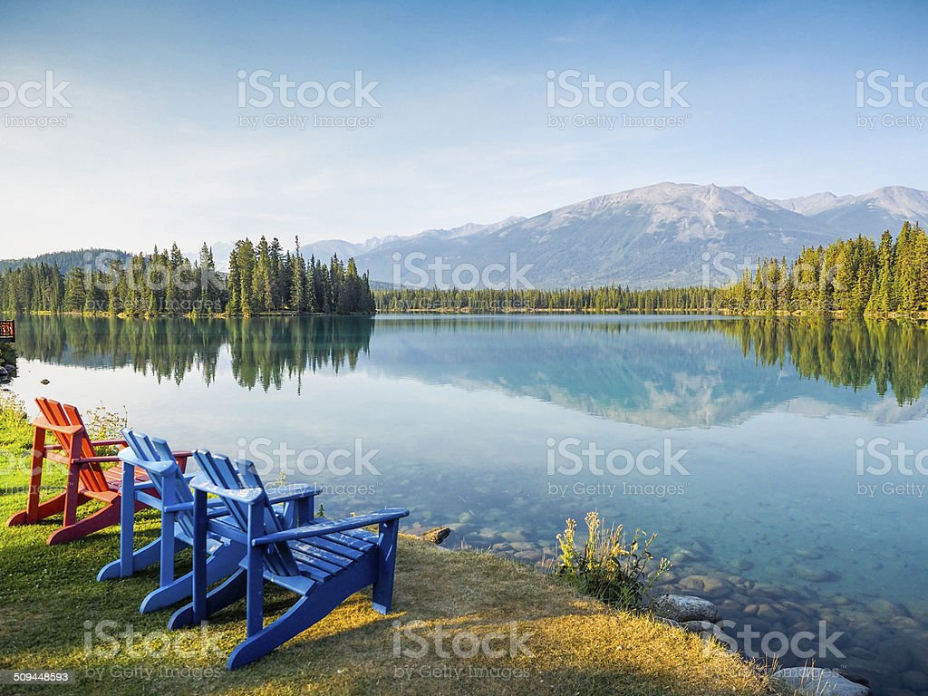 Tranquil Scene of Jasper-Alberta-canada stock photo