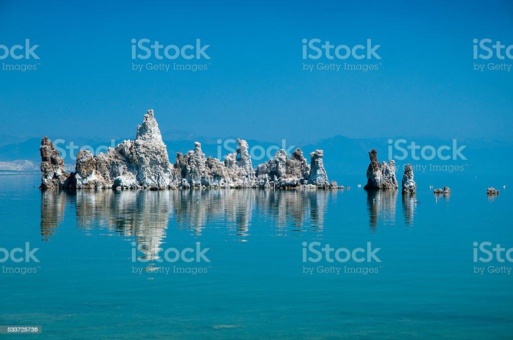 Tranquil scene on Mono Lake, California stock photo