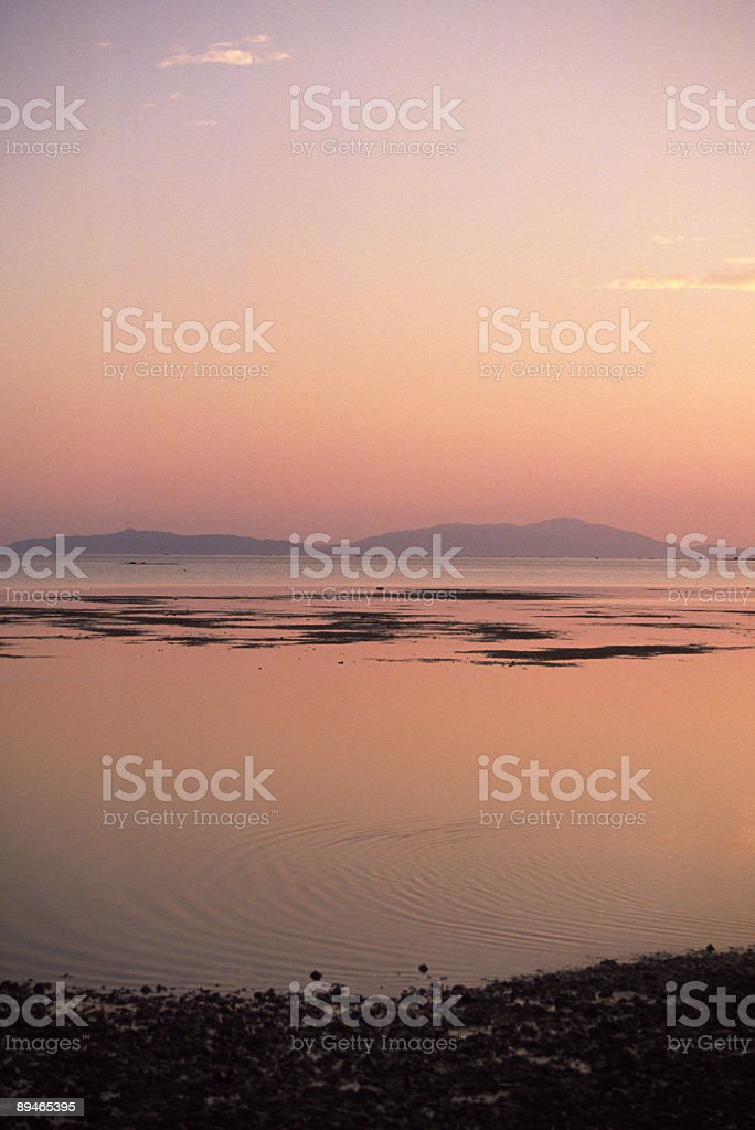 Tranquil scenery at dusk 免版稅 stock photo