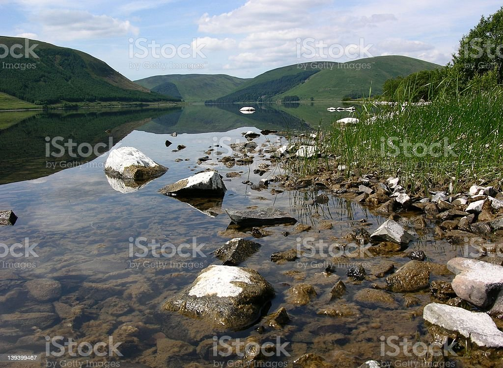 Tranquil Scottish Loch royalty-free stock photo