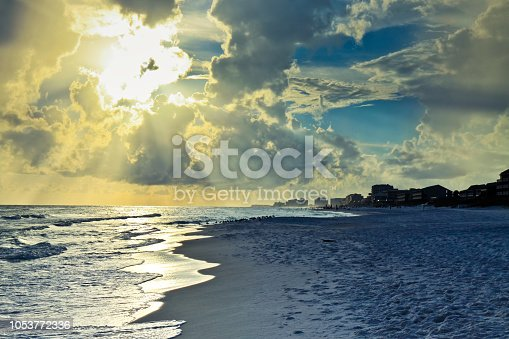 1054156720istockphoto Tranquil sea and thunderclouds in sky at Destin Florida 1053772336