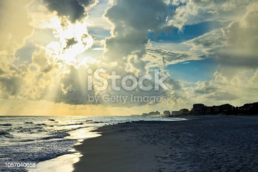 1054156720istockphoto Tranquil sea and thunderclouds in sky at Destin Florida 1057040658