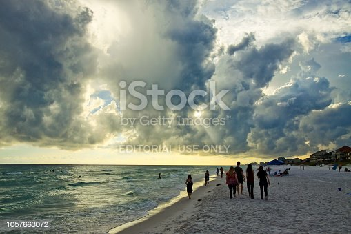 1054156720istockphoto Tranquil sea and thunderclouds in sky at Destin Florida 1057663072