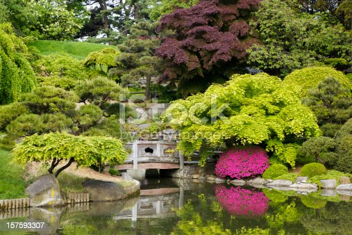 The Japanese Garden at Brooklyn's Botanical Garden in New York.