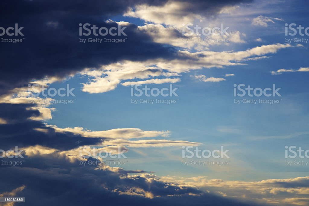 Tranquil sky at sunset royalty-free stock photo