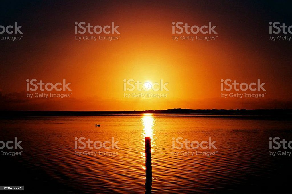 Tranquil Sunrise, NSW Australia stock photo