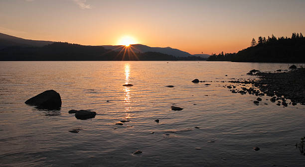 Tranquil Sunset, Lake District, UK stock photo