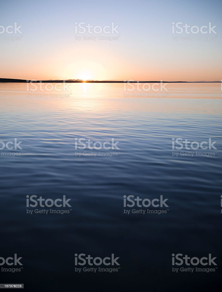 Tranquil Sunset over Calm Water royalty-free stock photo