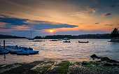 Peaceful cloudscape at twilight on Cape Cod in Massachusetts