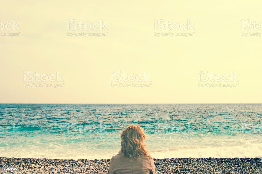 Tranquil Thought (cross-processed) royalty-free stock photo