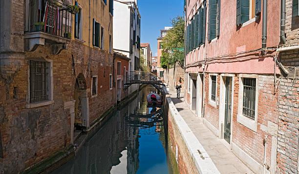 Tranquil Venice backstreet stock photo