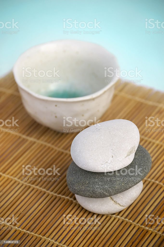 Tranquil Zen style scene. Spa series royalty-free stock photo