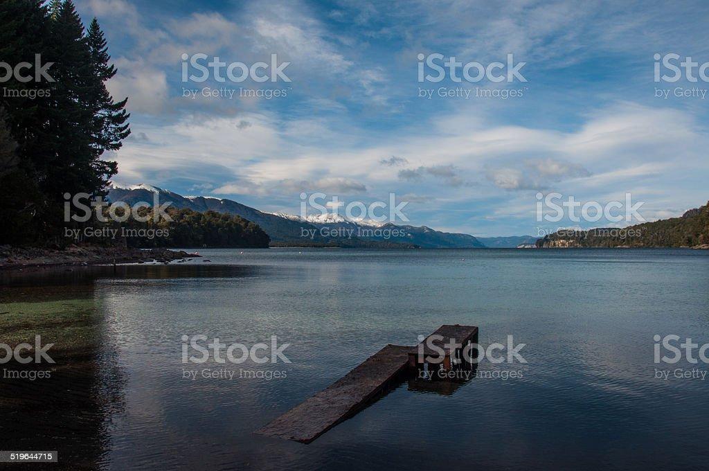 Tranquility for swimming at ease, Villa la Angostura, Argentina stock photo