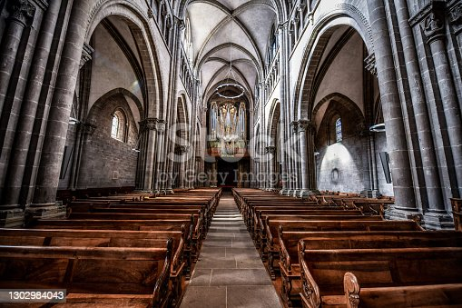 istock Tranquility Inside St. Pierre's Cathedral In Geneva, Switzerland 1302984043