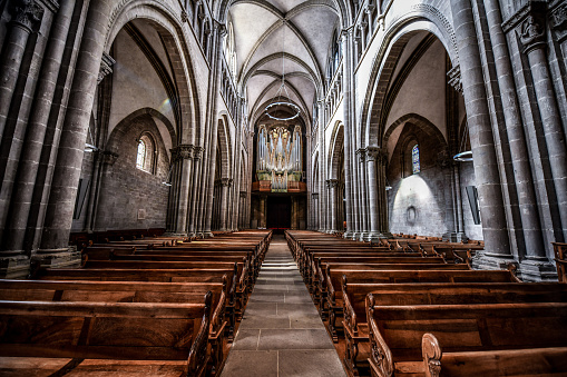 Tranquility Inside St. Pierre's Cathedral In Geneva, Switzerland
