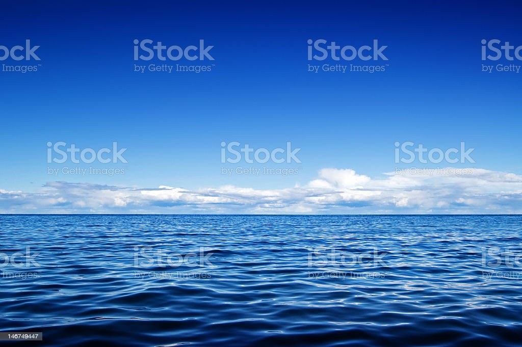 Tranquility with water and sky stock photo