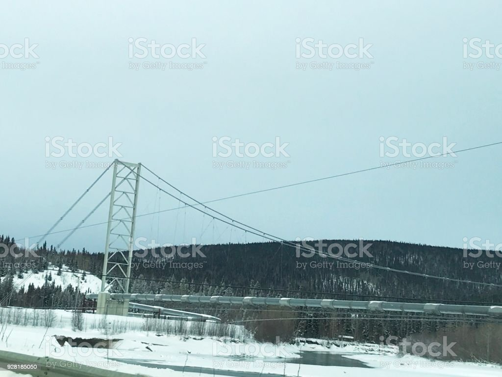 Trans Alaska Pipeline - Alaska stock photo
