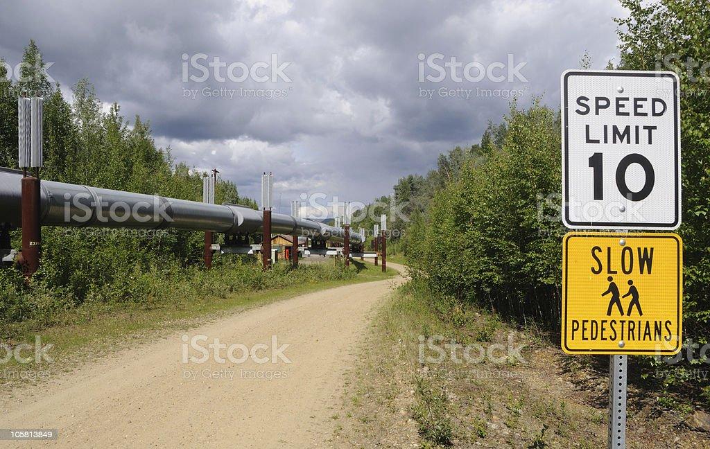 Trans Alaska Pipeline royalty-free stock photo