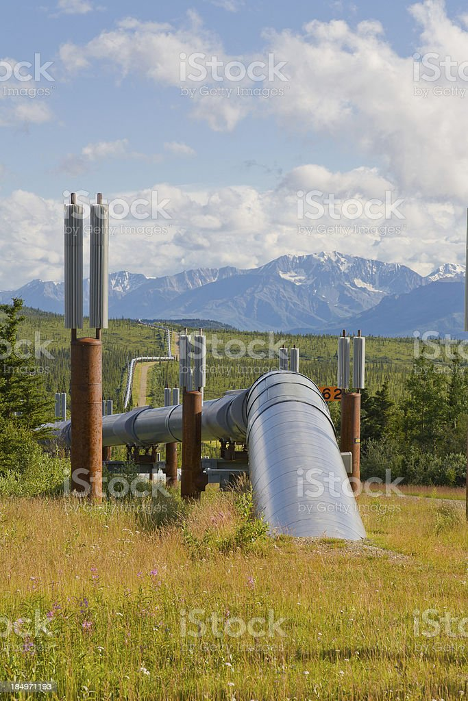 Trans Alaskan Oil Pipeline, Alaska stock photo