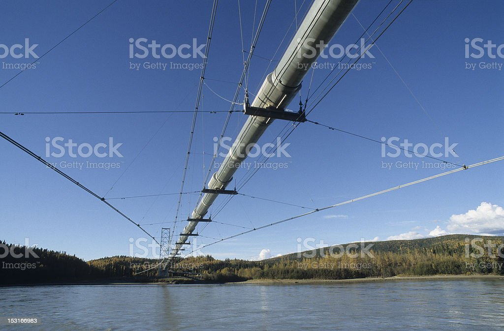 Trans Alaskan pipeline stock photo