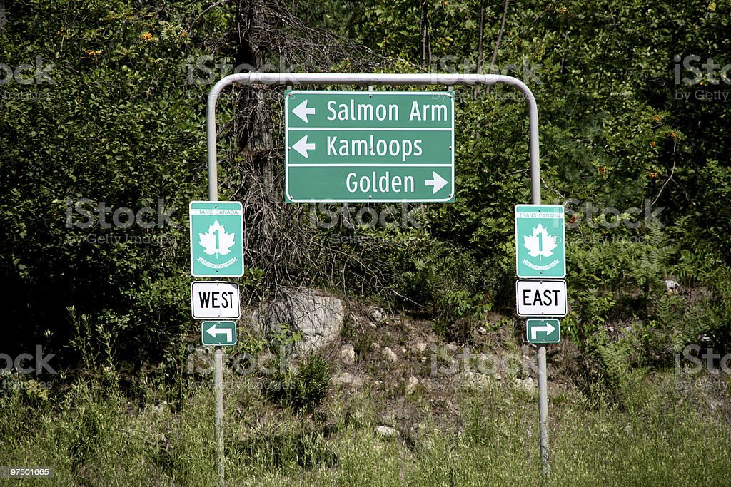 Trans Canada Highway royalty-free stock photo