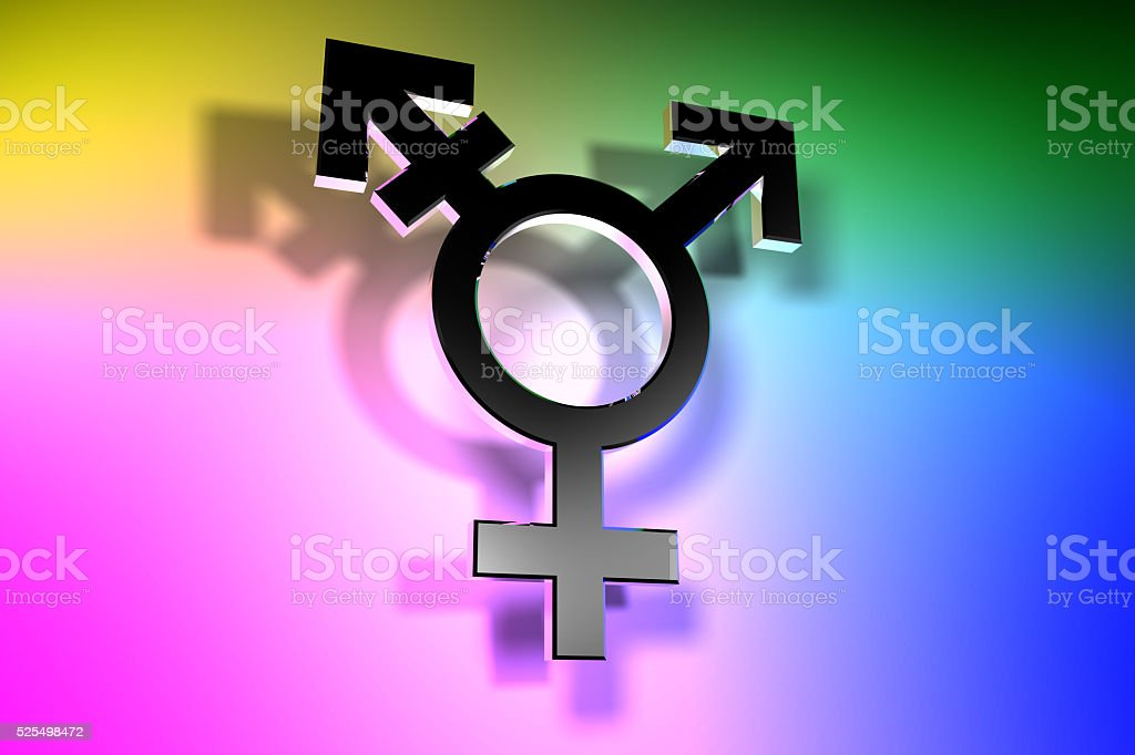Trans Gender Symbol stock photo