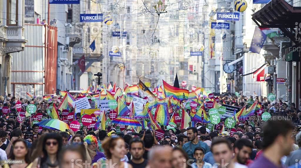 5. Trans Pride March in Istanbul stock photo