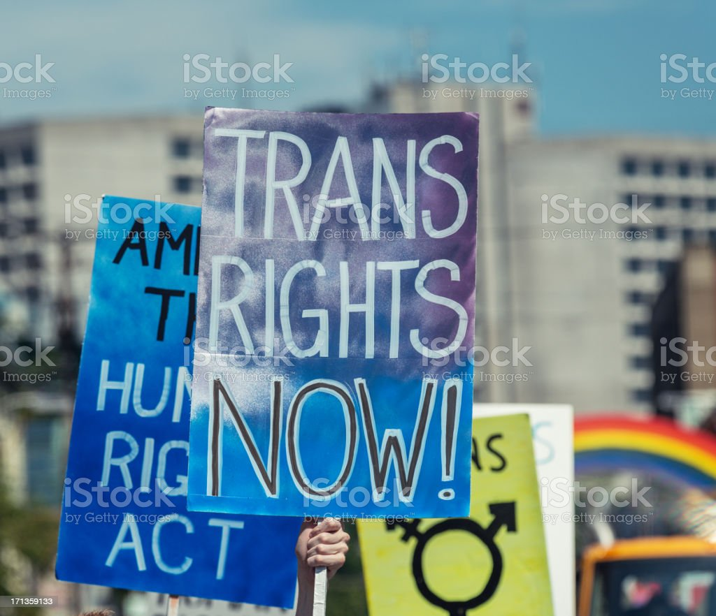 Trans Rights stock photo