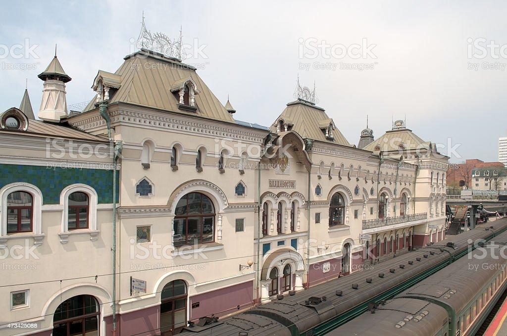 Trans Siberian Express Vladivostok Station stock photo