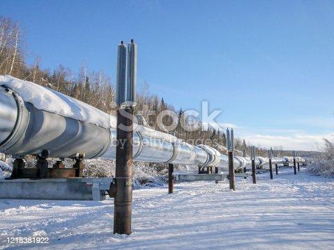 Trans-Alaska Pipeline System in Winter