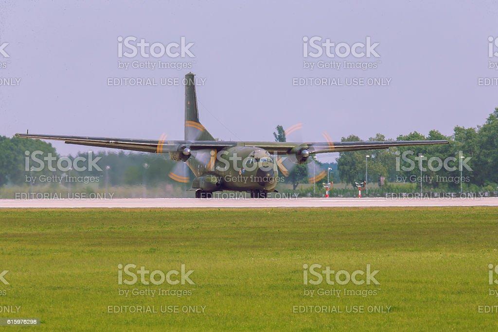 Transall C-160 at ILA Berlin Air Show 2014 stock photo