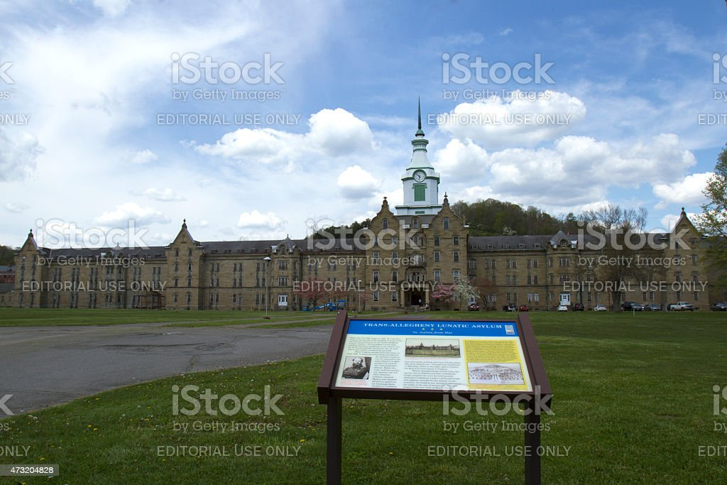 Trans-Allegheny Lunatic Asylum and grounds stock photo