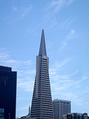 San Francisco - June 8, 2010: Transamerica Pyramid and tall buildings of downtown of San Francisco City, California.