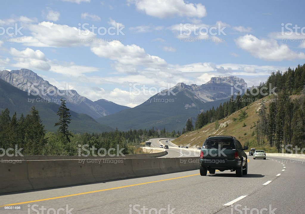 Transcanada Highway, Banff National Park royalty-free stock photo