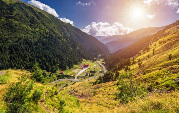Transpharasan Highway, wahrscheinlich die schönste Straße der Welt, Europa, Rumänien (Transpharashan) – Foto