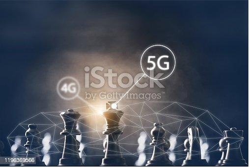 istock Transfer 4g to 5g concept to change 1196369566