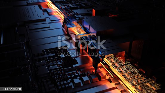 istock Transfer and storage of data sets. 3D Rendering 1147291028