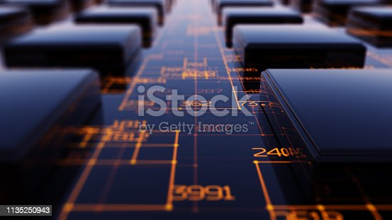 istock Transfer and storage of data sets 1135250943