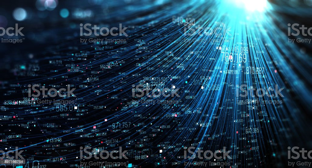 Transfer and storage of data sets royalty-free stock photo