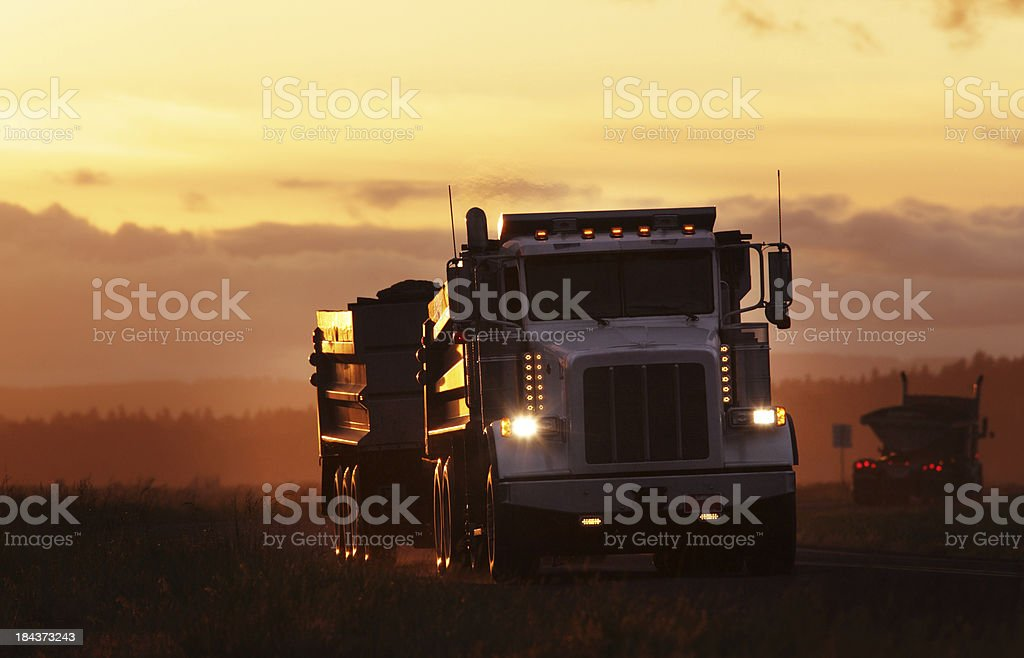 Transfer Dump Truck. stock photo