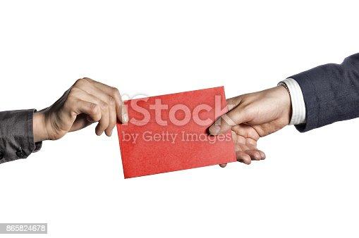 istock Transfer of correspondence 865824678