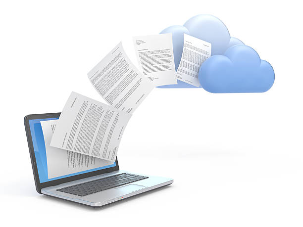 Übertragung von Daten zu den Wolken. – Foto